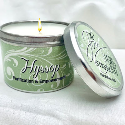 "HYSSOP SCRIPTURE TIN - ""THE JOY OF THE LORD"""