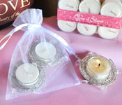 2 Beaded Tealight Holders in Pouch w/2 FREE tealights