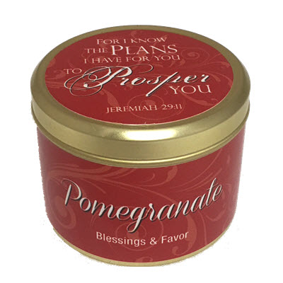 "Pomegranate Scripture Tin -""For I know the Plans"""