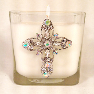 New Large Size - Spikenard Cross Candle
