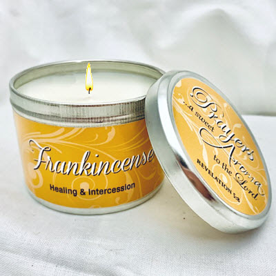 "FRANKINCENSE SCRIPTURE TIN - ""PRAYERS A SWEET AROMA TO THE LORD"""