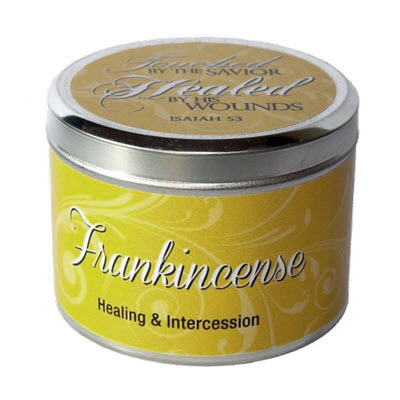 "Frankincense Scripture Tin -""Healed by His Wounds"""
