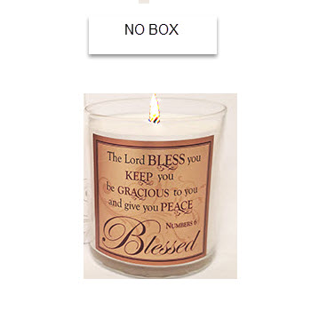 "New Fragrance! Scripture Candle- ""The Lord Bless You"" - Pomegranate"