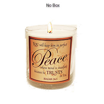 "Scripture Candle- ""Perfect Peace"" - Spikenard"