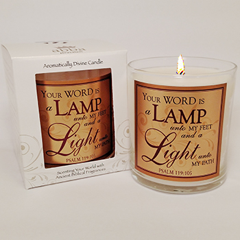 "Scripture Candle- ""Lamp & Light"" - King's Garments"