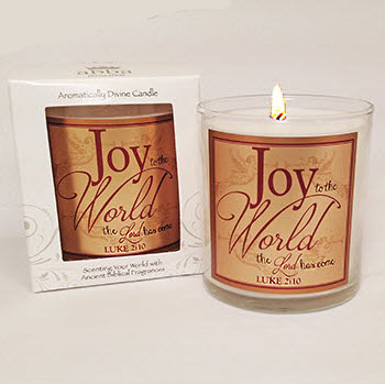 "Scripture Candle- ""Joy to the World"" - Red Currant"