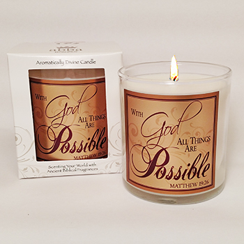 "Scripture Candle- ""Possible"" - King's Garments"