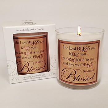 "Scripture Candle- ""The Lord Bless You"" - King's Garments"