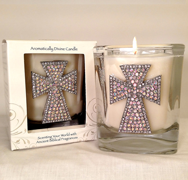New Large Size - Hyssop Cross Candle