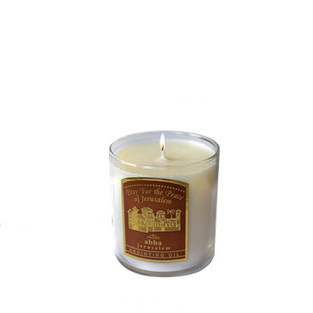 Pray for the Peace of Jerusalem Candle - 2.25""