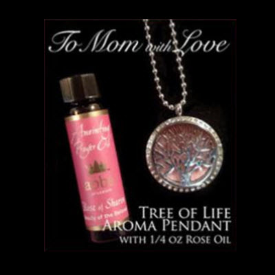 NOW $22! Diffuser Pendant - Tree of Life with 1/4oz Rose Anointing Prayer Oil