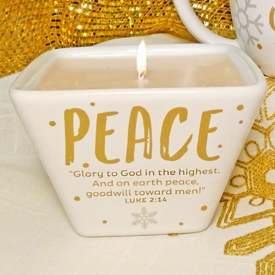 Peace Dish Candle - Winter Wonderland