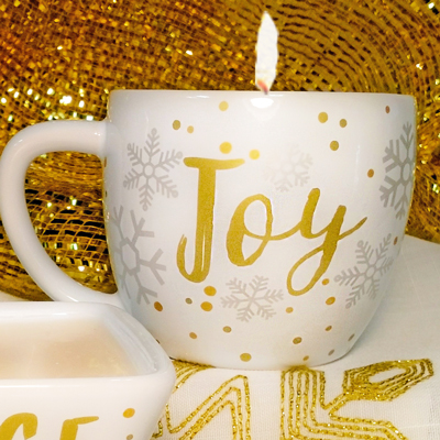 Joy Mug Candle - Apple Cinnamon
