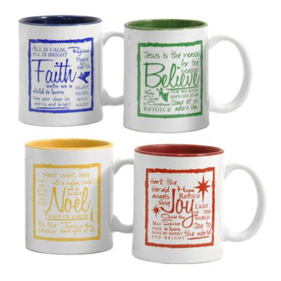 Holiday Mug Set of 4 Candles