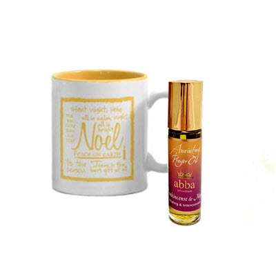 Noel - Peace on Earth mug candle - Frankincense & Myrrh with Roll-On Anointing Oil