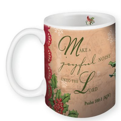 "23% OFF! ""Make a joyful Noise unto the Lord"" Coffe Mug with Pomegranate Candle"