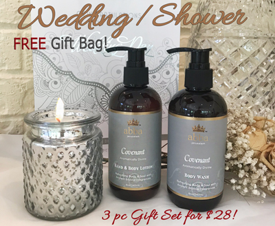Covenant Body Lotion & Wash, Mercury Glass Candle in Beautiful Gift Bag