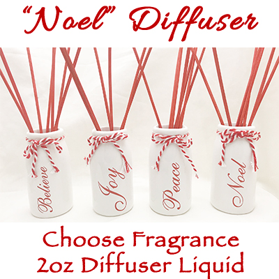 NOEL Inspirational Diffuser with 2 oz diffuser liquid