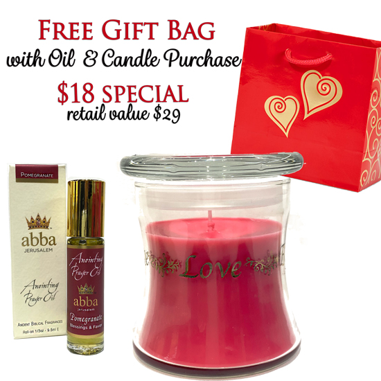 POMEGRANATE CANDLE & POMEGRANATE ROLL-ON WITH FREE GIFT BAG