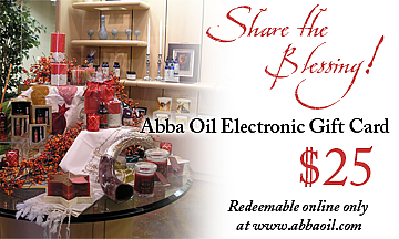 $25 Abba Electronic Gift Card