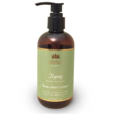 HYSSOP HAND & BODY LOTION W/ PUMP 8 oz