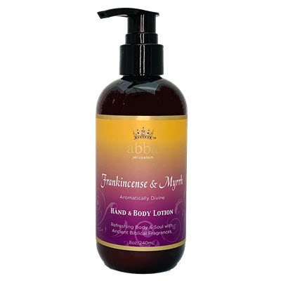 FRANKINCENSE & MYRRH HAND & BODY LOTION W/ PUMP 8 oz