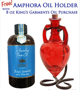 BUY King's Garments 8oz Anointing Prayer Oil and Get FREE Red Amphora