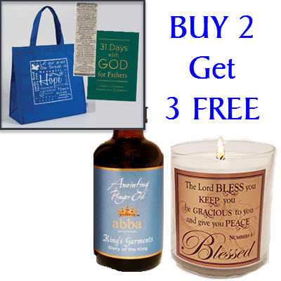 BUY King's Garments 4oz Anointing Prayer Oil with Scripture Candle and Get 3 FREE items