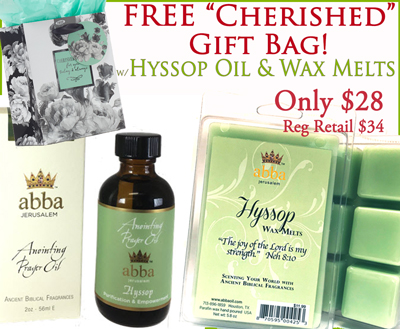 Hyssop 2 oz Anointing OIl & Wax Melts with FREE Gift Bag
