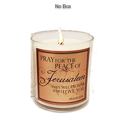 "SCRIPTURE CANDLE - ""PRAY FOR THE PEACE- FRANKINCENSE"