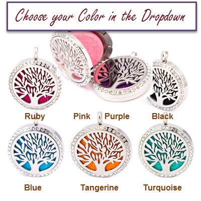 1 for $16.99 - Tree of Life Stainless Diffuser Pendant