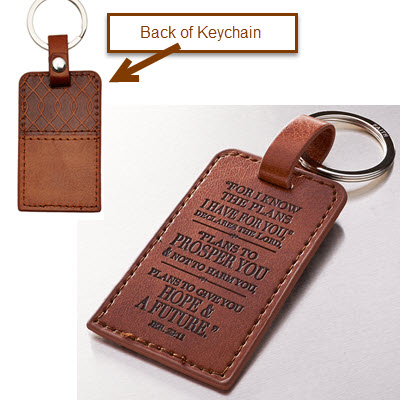 "Keychain with ""I know the Plans"" LuxLeather"