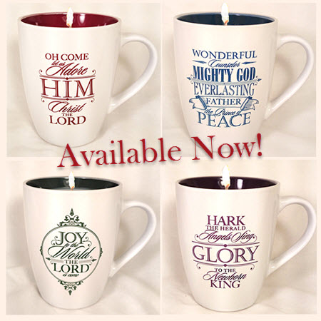 COMING SOON! Set of 4 Holiday Candles in Mug (Reg $54)