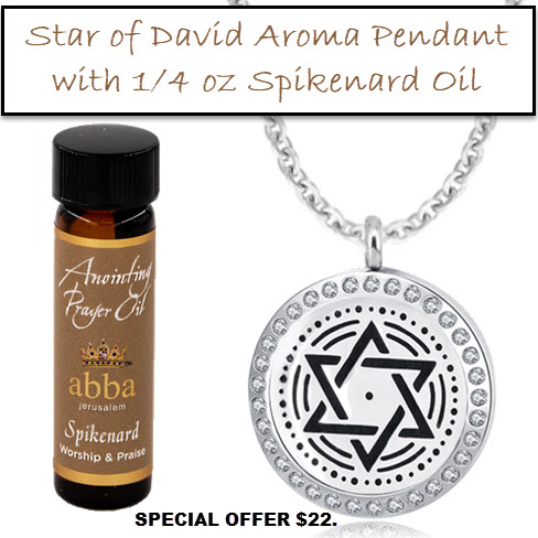 Diffuser Pendant - Star of David with 1/4oz Spikenard Anointing Oil-$22!