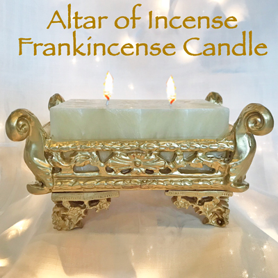 FRANKINCENSE - ALTAR OF INCENSE CANDLE W/ FREE REFILL CANDLE