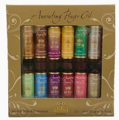 12 VARIETY - 1/4 oz ANOINTING OILS