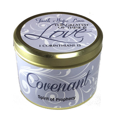 "Covenant Scripture Tin -""The greatest of these is LOVE"" - Spirit of Prophecy"