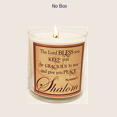 "FRANKINCENSE AND  MYRRH SCRIPTURE CANDLE - ""SHALOM"""