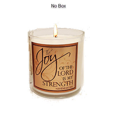 "Scripture Candle- ""Joy of the Lord"" - Hyssop"