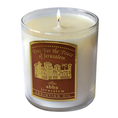 Pray for the Peace of Jerusalem Candle - 3""