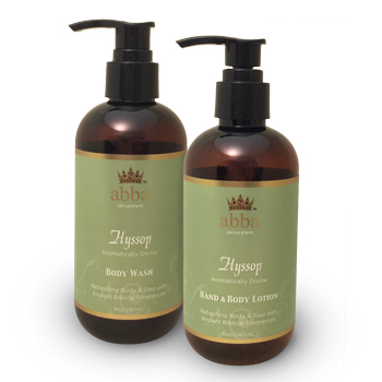 HYSSOP HAND & BODY LOTION AND BODY WASH (REG $20)