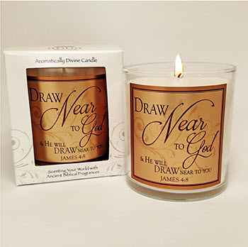 "Scripture Candle- ""Draw Near"" - King's Garments"