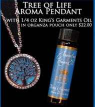 NOW $22.! Diffuser Pendant - Tree of Life with 1/4oz King's Garments Anointing Prayer Oil
