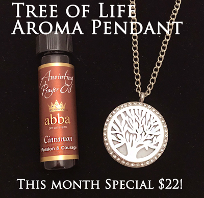 Diffuser Pendant - Tree of Life with 1/4oz Cinnamon Anointing Prayer Oil