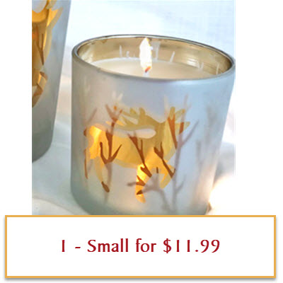 GOLD DEER CANDLE SMALL - WINTER WONDERLAND