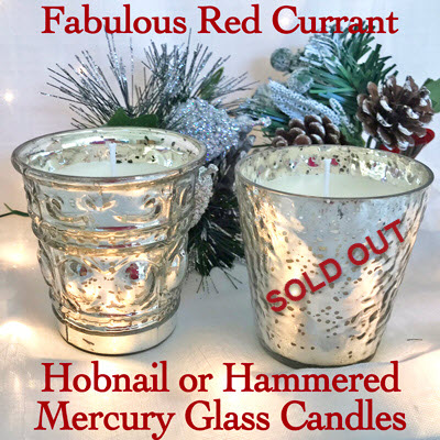 MERCURY HOBNAIL CANDLE - RED CURRANT
