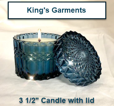 KINGS GARMENTS CANDLE WITH LID