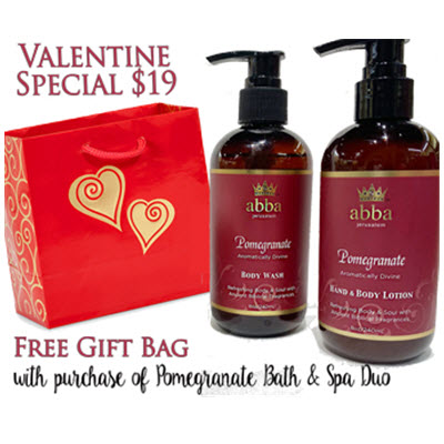 POMEGRANATE SPA DUO WITH FREE GOLD HEART GIFT BAG