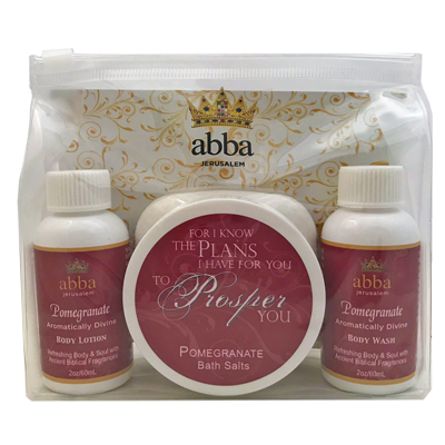 POMEGRANATE SPA SET - 2oz Lotion and Body Wash with 4 oz Bath Salts