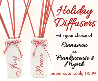 PEACE Holiday Diffuser with 2 oz diffuser liquid